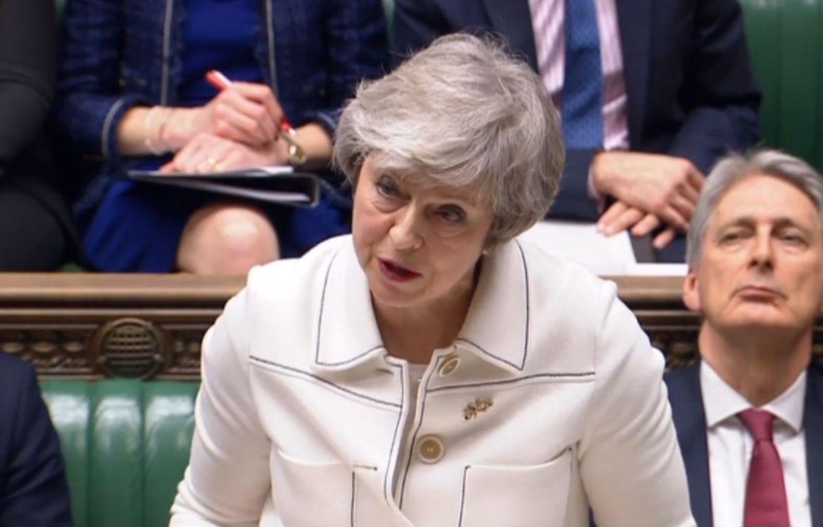 Premierministerin Theresa May während ihrer Rede im Parlament.