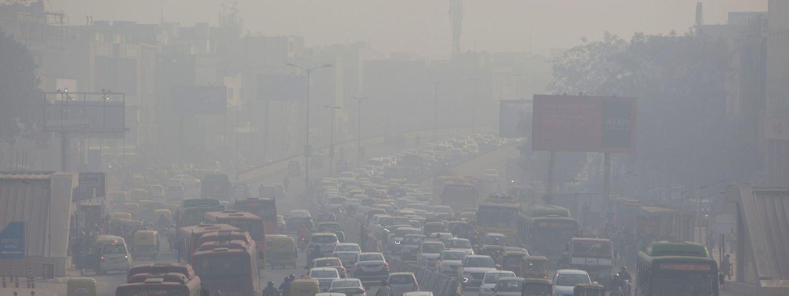 Au sud de New Delhi ce 6 décembre 2018. Mais le boom d'émissions de CO2 ne touche pas que l'Inde. La Chine et les Etats-Unis sont en tête.