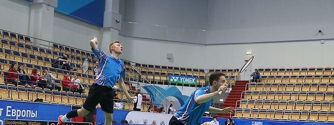 Juno Thomas und Mattias Sonderskov (l.) spielten das letzte und bedeutungslose Doppel.