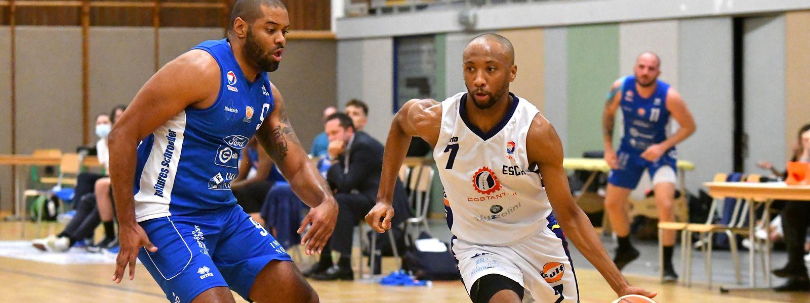 Miles Jackson-Cartwrights 40 Punkte reichten nicht: Basket Esch unterlag Etzella mit Jairo Delgado (l.) im Topspiel mit 96:101.