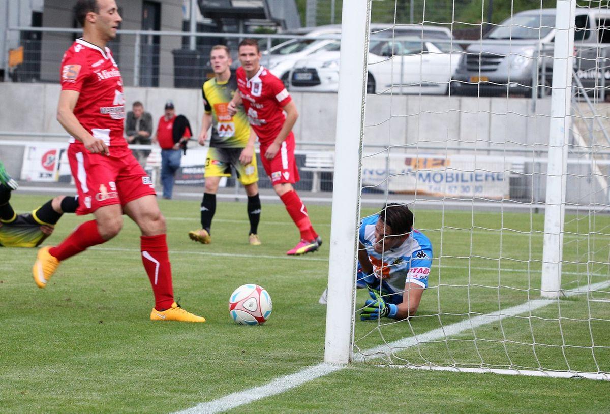 Omar Er Rafik pour le 1-0. Un but qui a lancé les Differdangeois sur les bons rails.