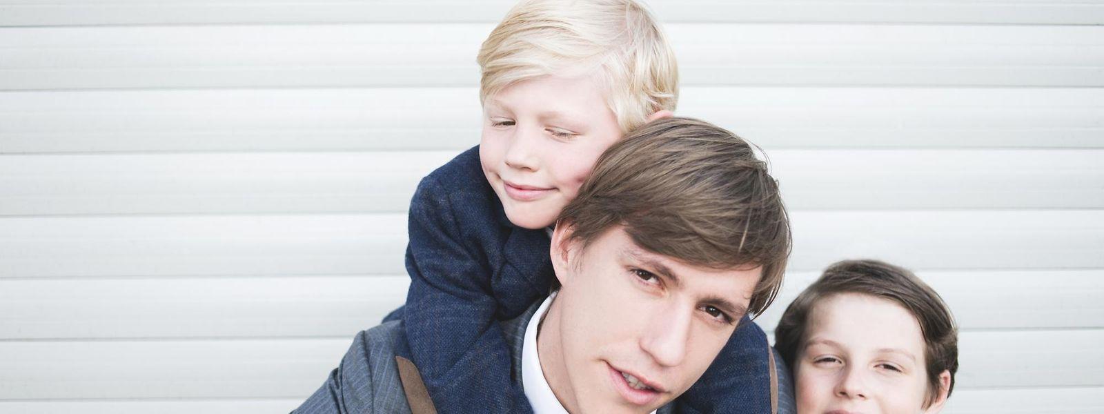 Prinz Louis mit seinen Söhnen Gabriel und Noah.