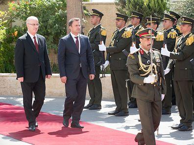 (de g. � dr.) Rami Hamdallah, Premier ministre de l'Autorit� palestinienne ; Xavier Bettel, Premier ministre, ministre d'�tat