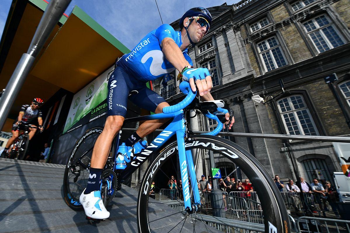 Vorjahrssieger Alejandro Valverde (E/Movistar) vor dem Start.