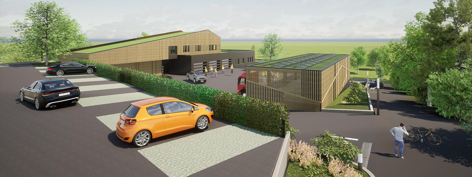 Le nouveau clubhouse donnera directement sur le parc de Gasperich, facilitant son accès aux équipes en charge de son entretien.