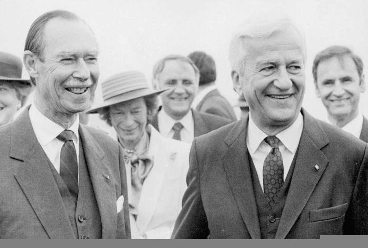 """""""Eingefangen von einer Atmosphäre der Warmherzigkeit und der Klugheit"""". Mit diesen Worten umriss der deutsche Bundespräsident die Eindrücke, die er bei seinem Staatsbesuch im September 1988 in Luxemburg gewann."""