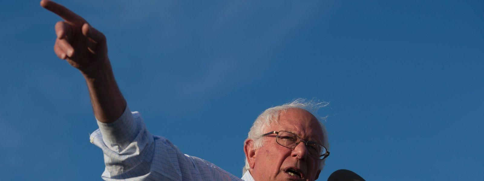Der Senator aus Vermont hatte sich einen langen Kampf mit Hillary Clinton geliefert.