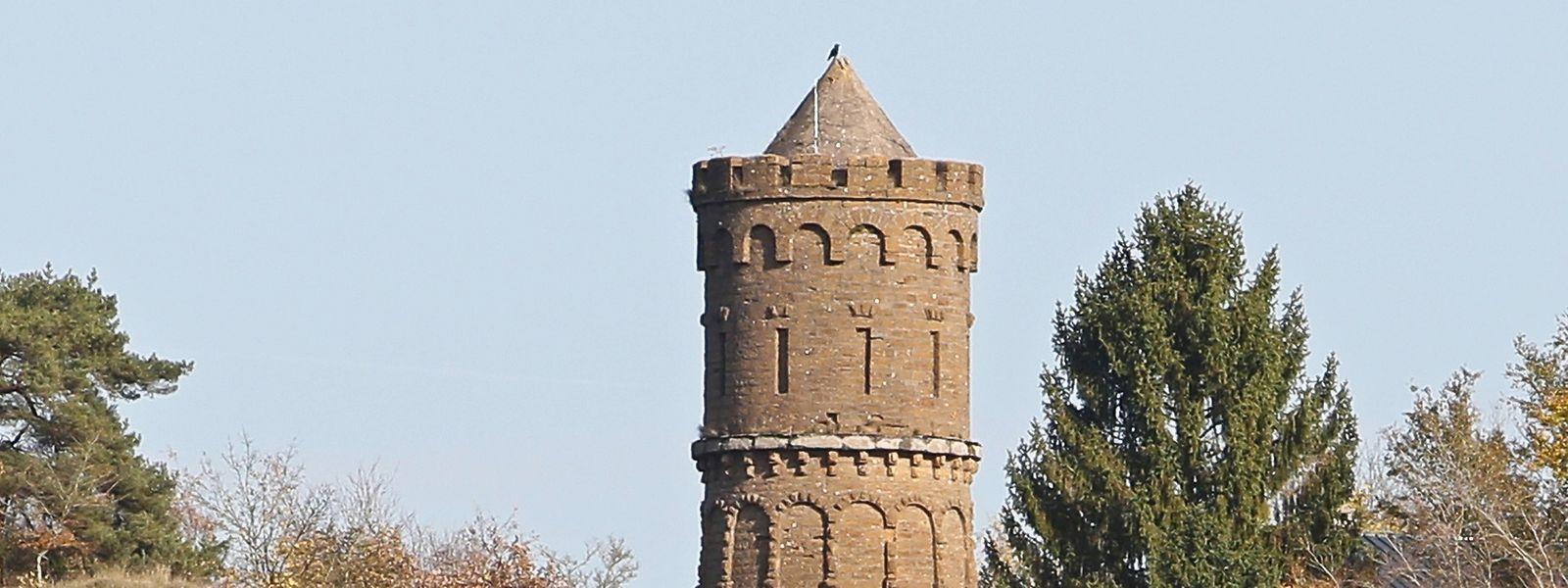 Der frühere Wasserturm um Perchesbierg war bis 1976 in Betrieb. Ein neuer Wasserspeicher steht am Hutbierg.