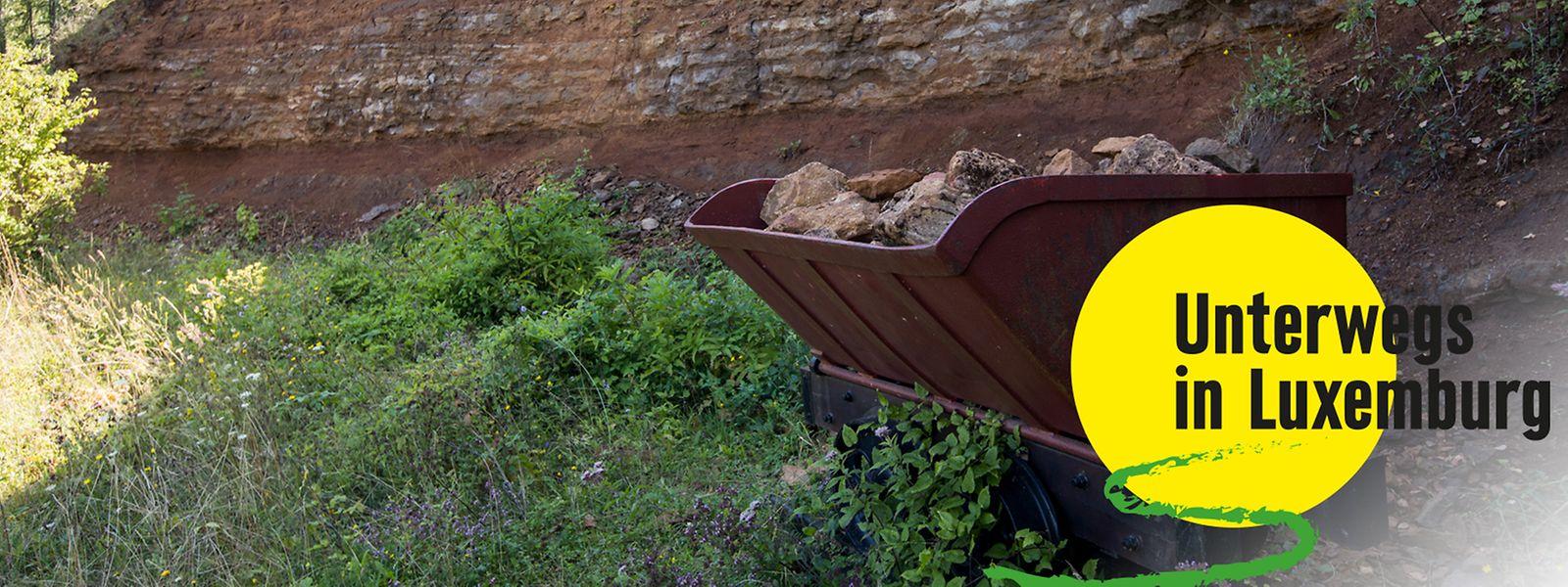 Auf dem Giele Botter sind die Spuren des ehemaligen Erzabbaus noch zu sehen.