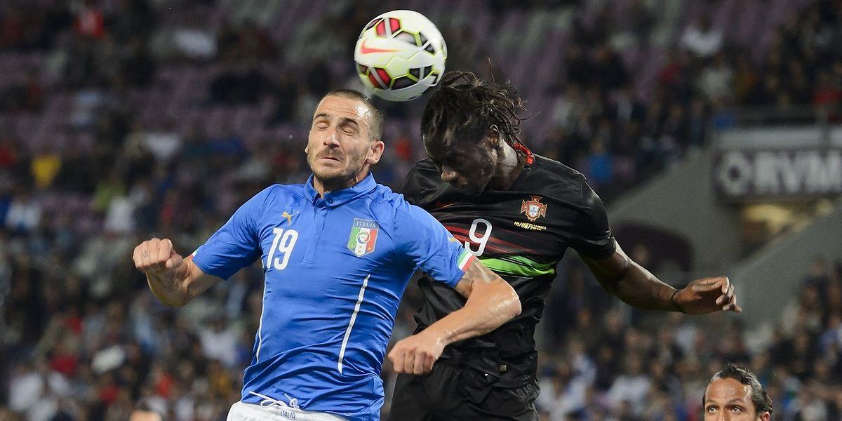 Eder (n°9) apontou o golo da vitória de Portugal