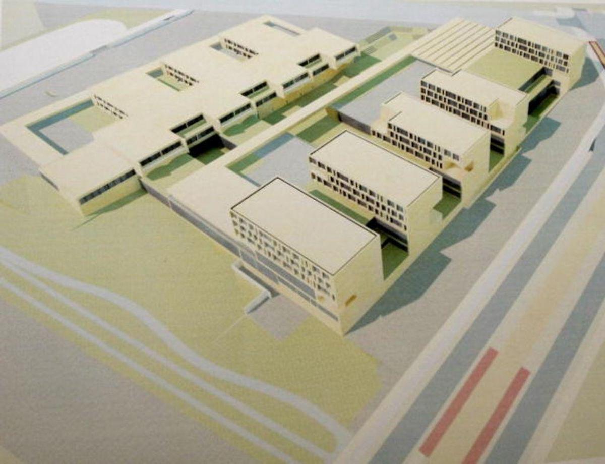 La construction de l'Ecole et Lycée français du Luxembourg (ELFL) a démarré le 18 février 2015. L'école maternelle, de plain-pied, sera construite sur la partie haute du terrain de sorte que les bâtiments du lycée, sur plusieurs étages, ne dominent pas outrageusement l'ensemble.