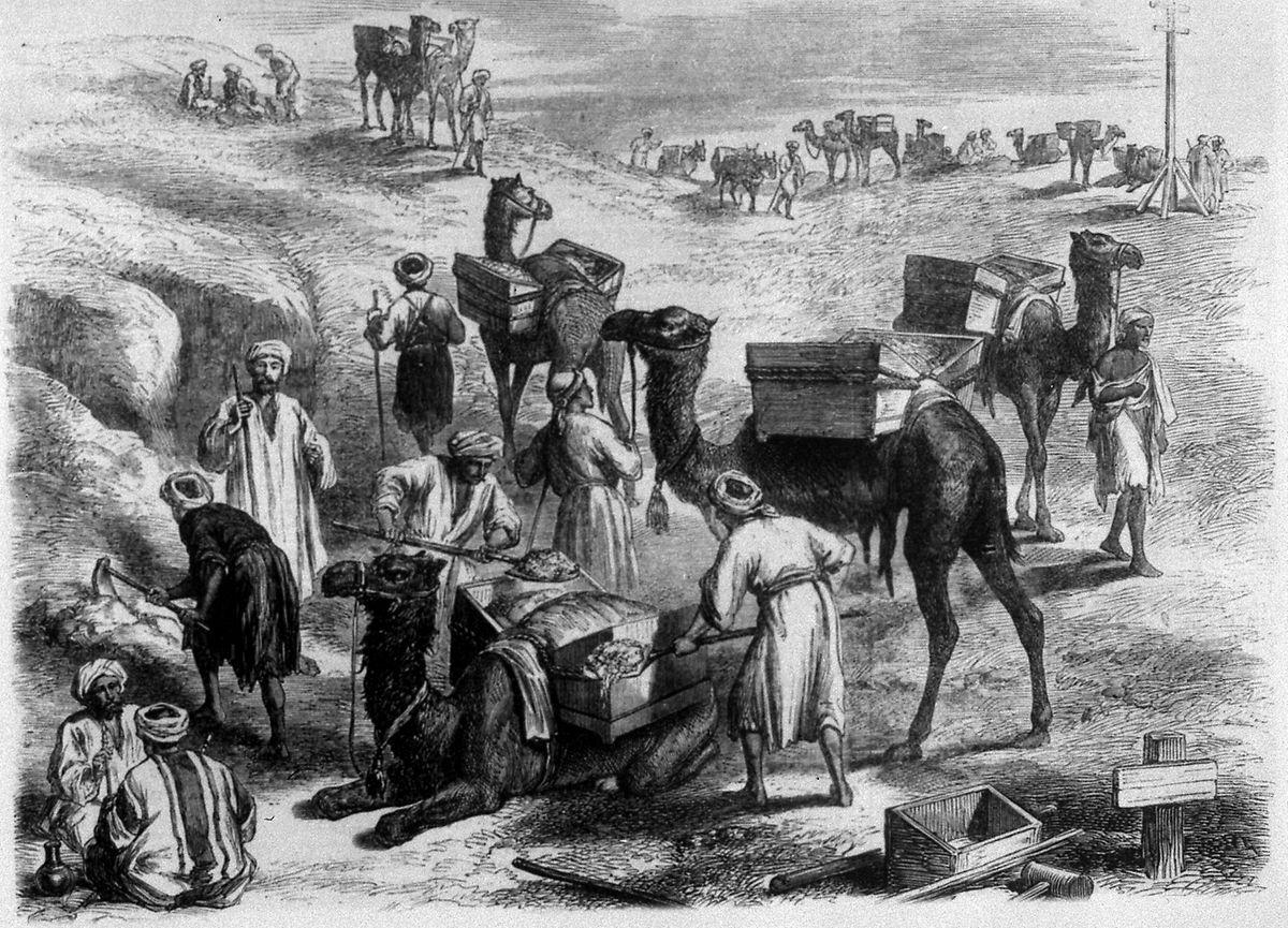 Beim Bau starben Zehntausende Zwangsarbeiter.