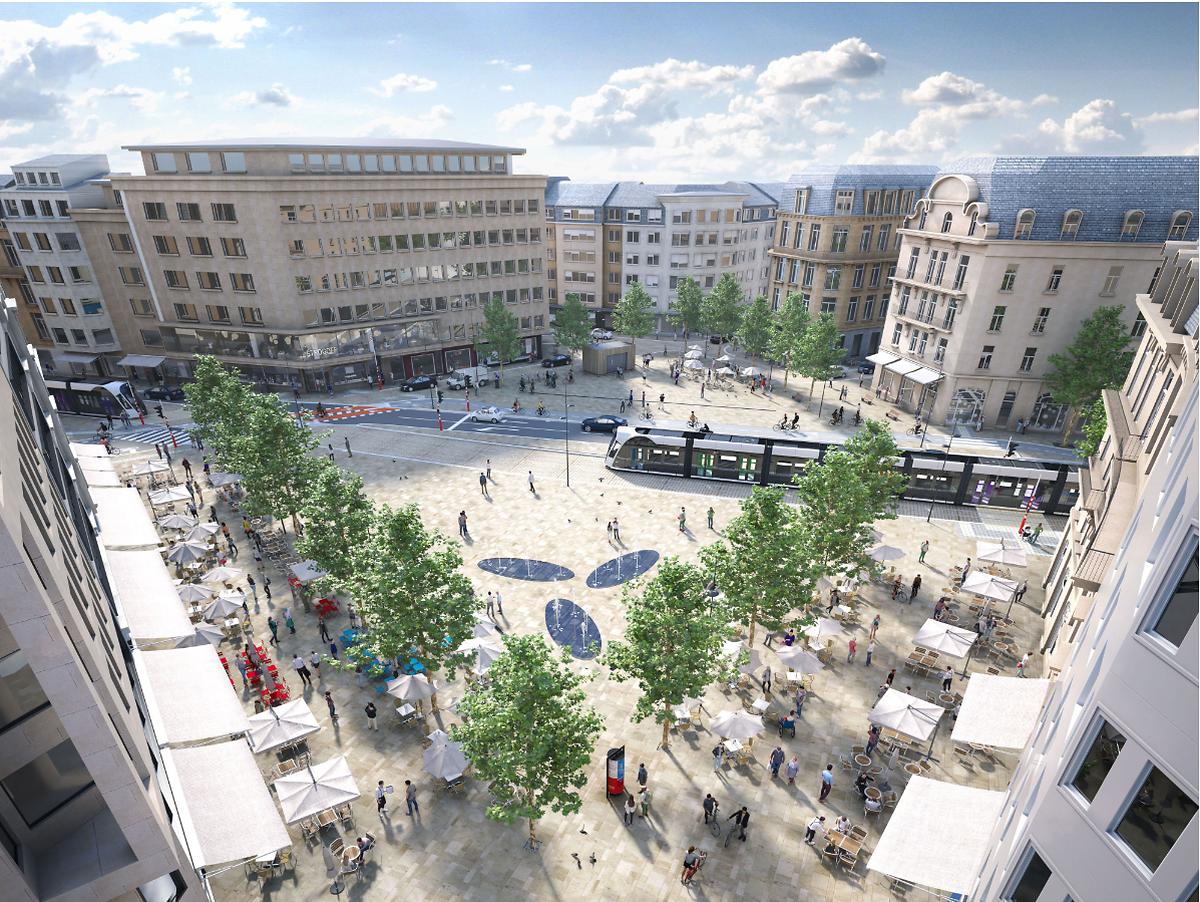 Nach der Umgestaltung soll die Place de Paris zum Verweilen einladen.