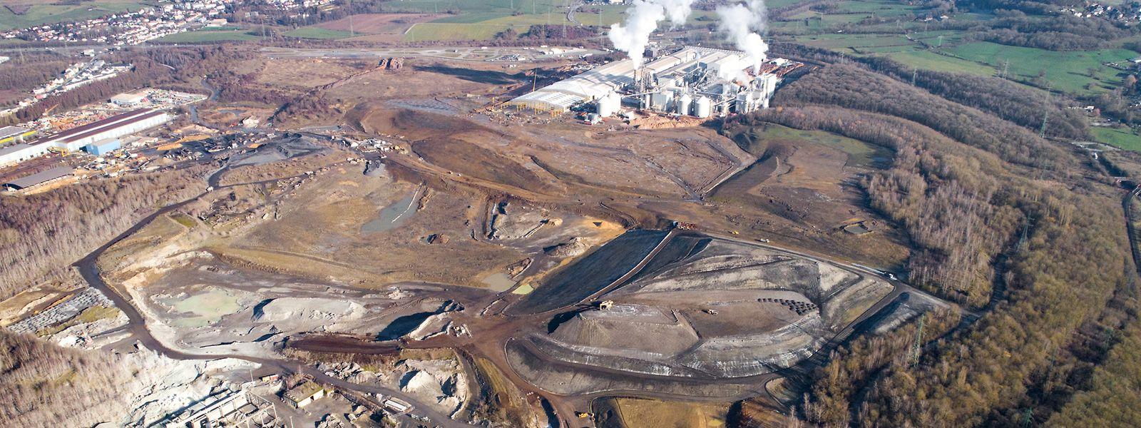 Sur l'ensemble du crassier, ArcelorMittal gère deux des trois dépôts.