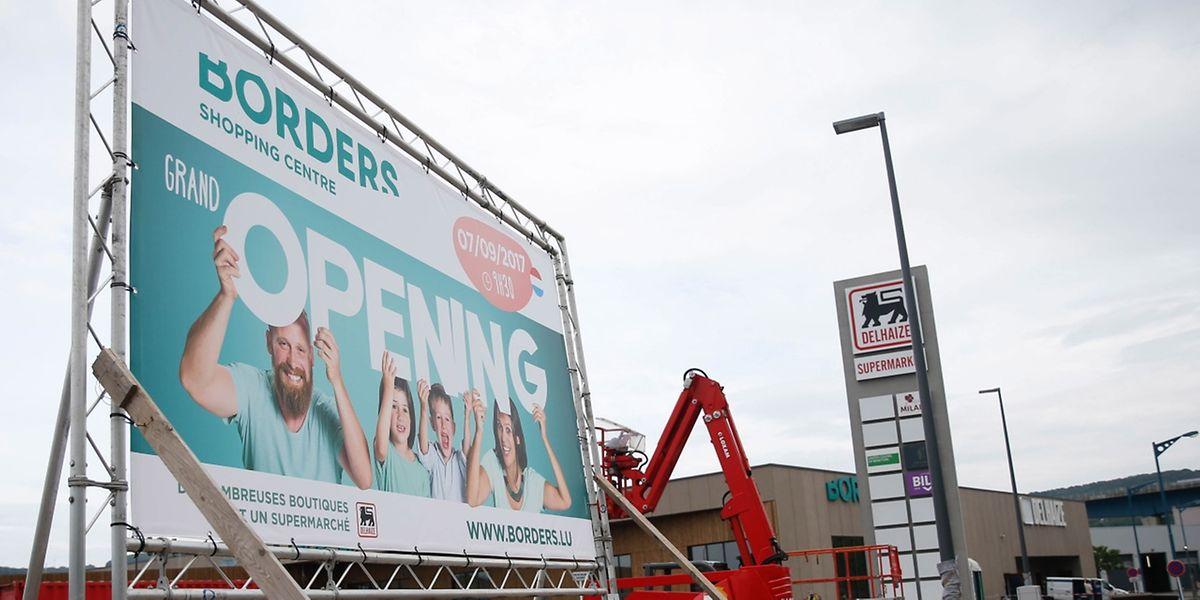 """Am Donnerstag öffnet das Shopping Center """"Borders"""" zwischen Schengen und Remerschen."""
