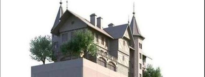 Metz Ein Hotel Mit Einer Villa Auf Dem Dach