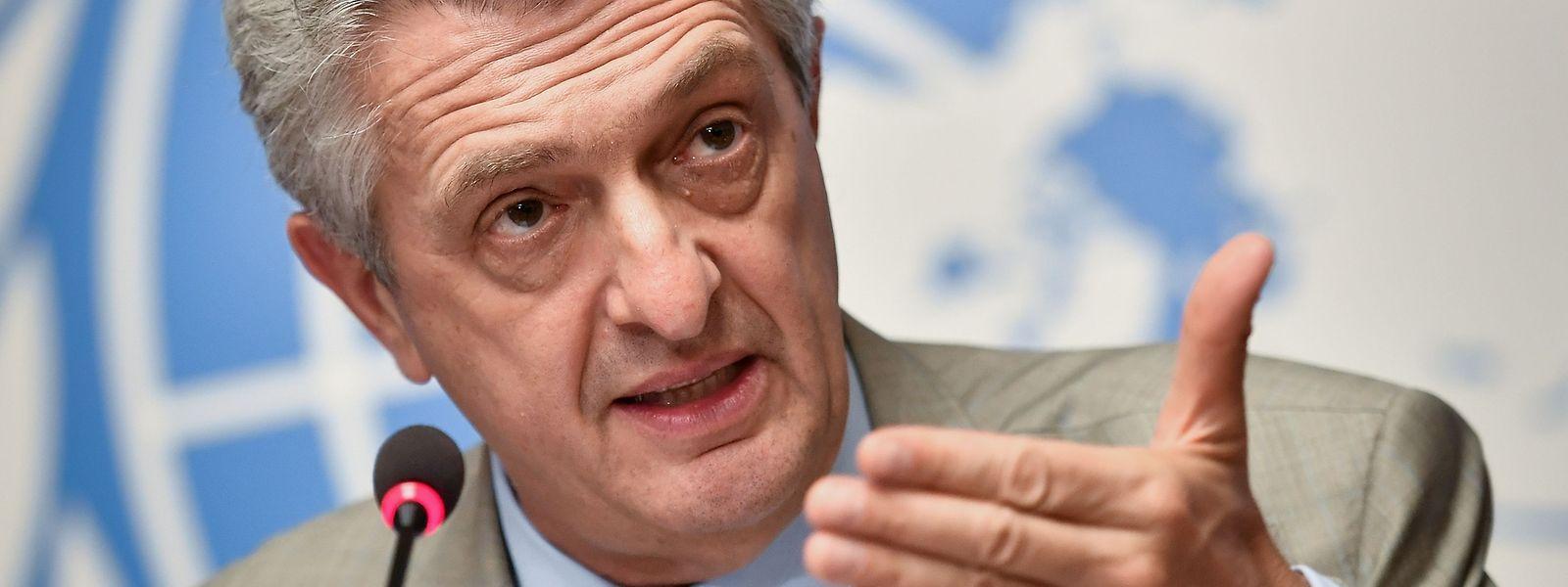 UN-Flüchtlingskommissar Filippo Grandi hatte sich in Rom mit Regierungsvertretern getroffen.