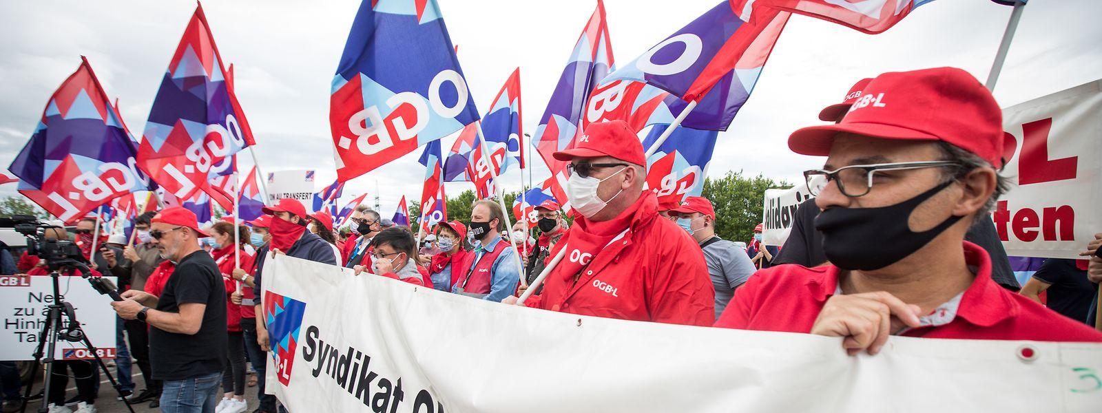 Le conflit s'était notamment traduit par la tenue d'un piquet de protestation devant l'usine Luxguard II à Dudelange