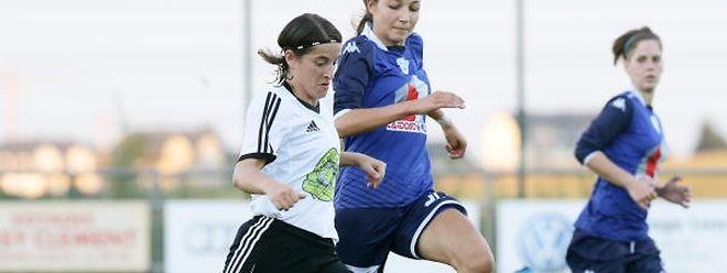 Jessica Birkel (Junglinster, en blanc) et Junglinster partent à la reconquête d'un titre qui leur a échappé la saison dernière.