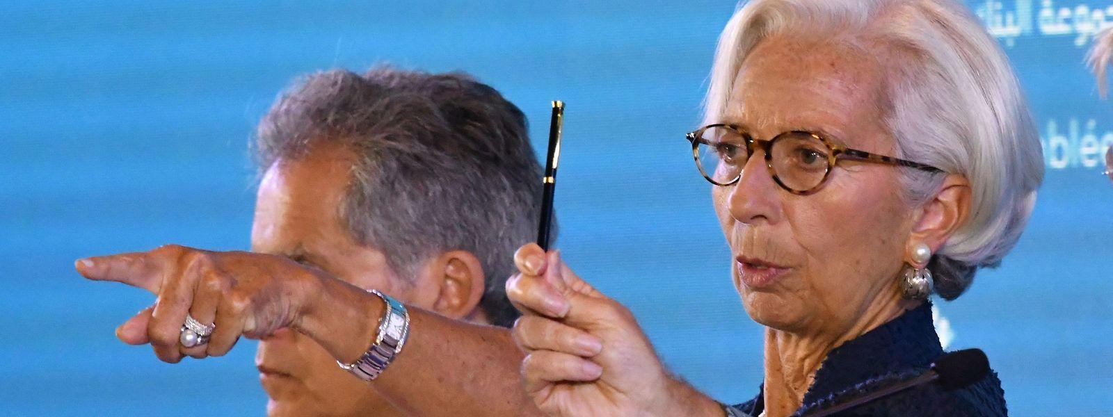 """""""Die Wirtschaft ist stark, aber sie ist nicht stark genug"""", sagte Lagarde."""