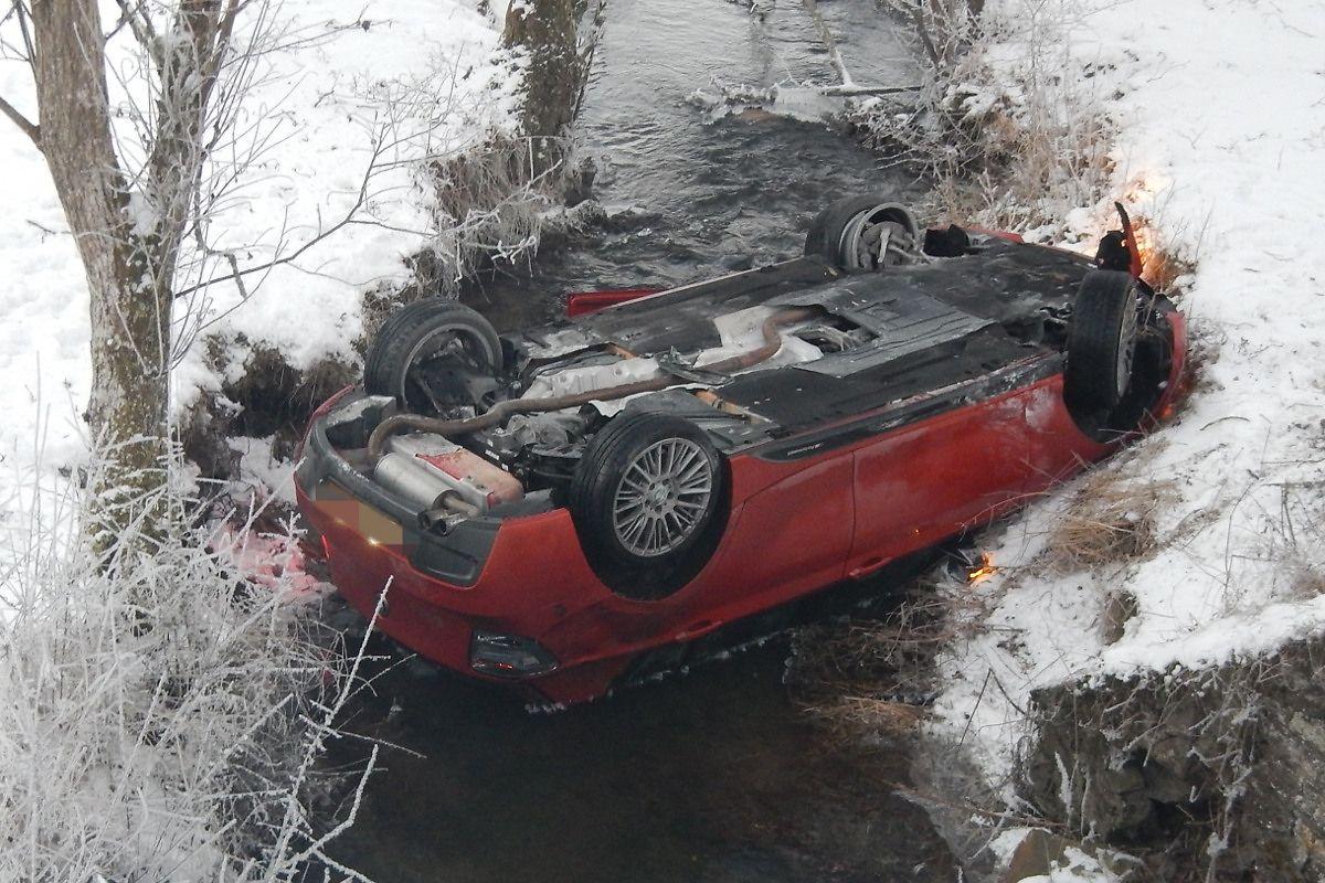Bei diesem Unfall blieb der Fahrer unverletzt.