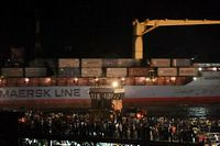 """Der Containerfrachter """"Maersk Alabama"""" hat den kenianischen Hafen Mombasa erreicht."""