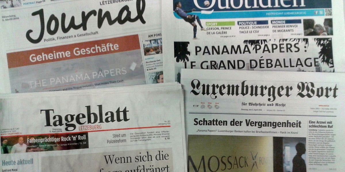 Die Tageszeitungen titeln am Dienstag mit den Panama Papers.