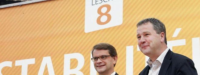 CSV-Präsident Michel Wolter und Generalsekretär Laurent Zeimet stellten das Motto der Christlich-Sozialen für die Wahlen vor.