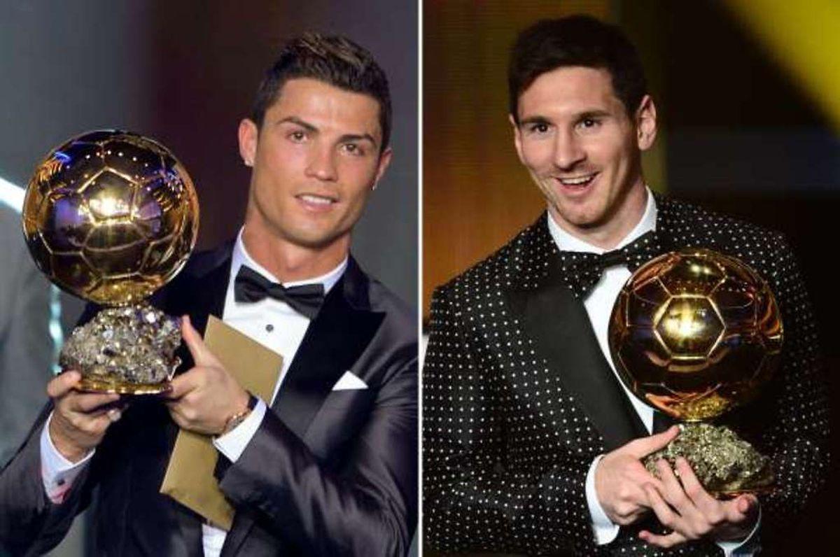 Cristiano Ronaldo et Lionel Messi se sont partagés six fois la première place.