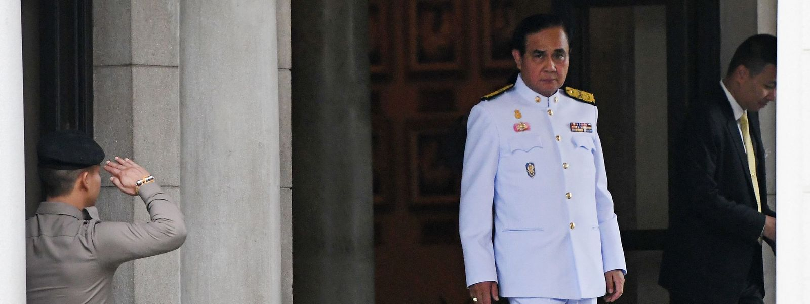 Thailands Premierminister Prayut Chan-O-Cha, ein Regierungsgebäude in Bangkok, einen Tag nach den Wahlen vom 24. März.