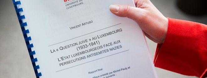 """Am 9. Februar hat der Historiker Vincent Artuso von der """"Uni Lëtzebuerg"""" der Regierung seinen Bericht über """"La ,Question juive' au Luxembourg"""" vorgelegt."""