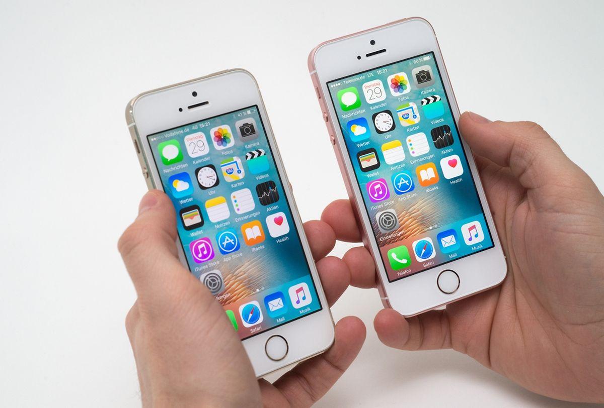 Das neue iPhone SE (r)ähnelt dem Vorgänger 5s (l) zum Verwechseln.