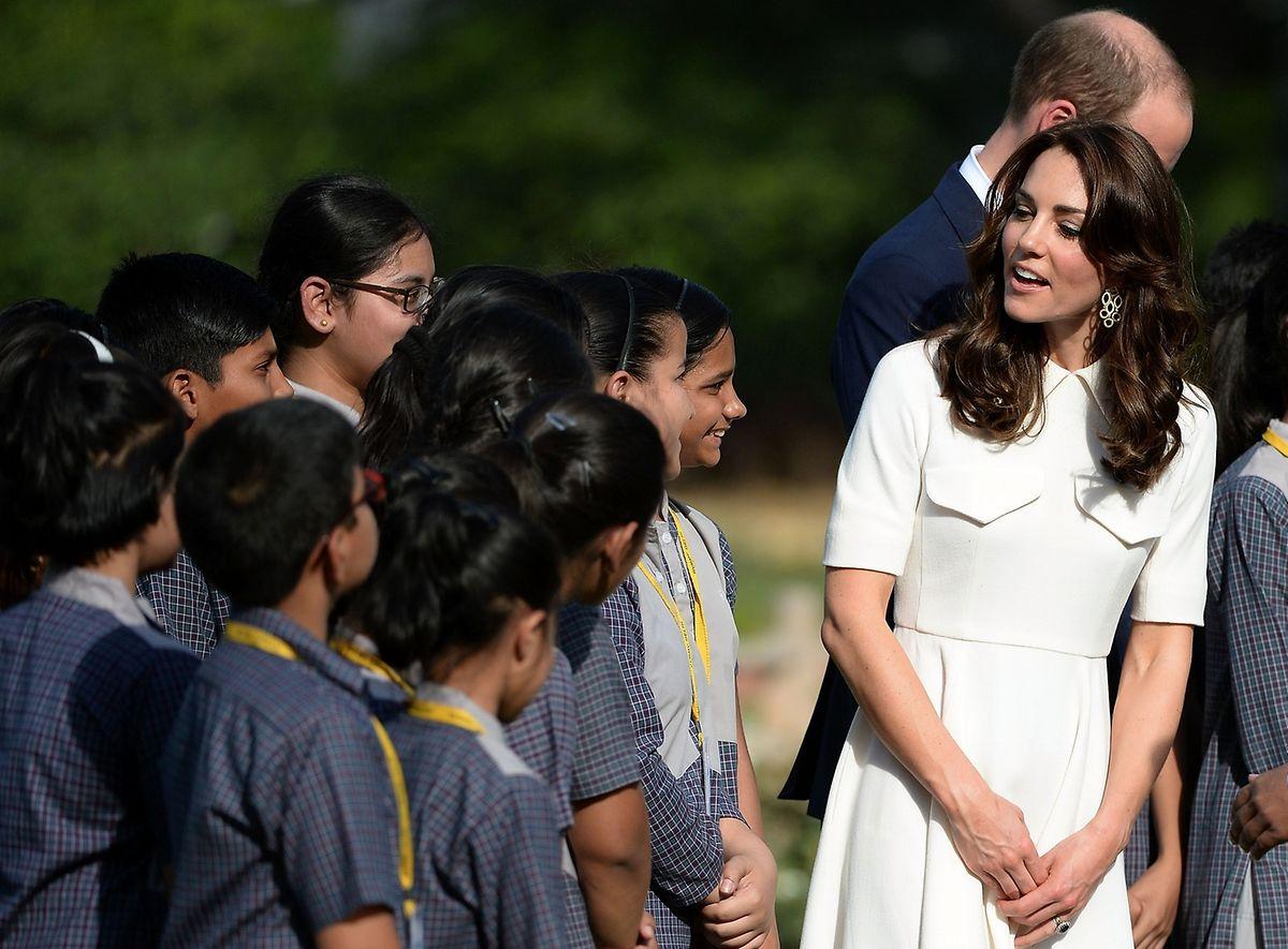 William ud Kate geben sich während ihrer Indienreise wie gewohnt volksnah.