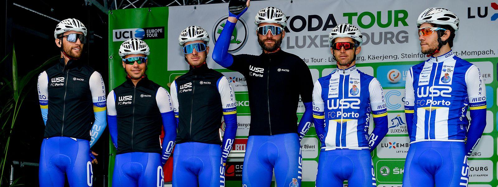 """Parte da equipa do """"W52 FC Porto"""" no Skoda Tour de Luxembourg do ano passado."""