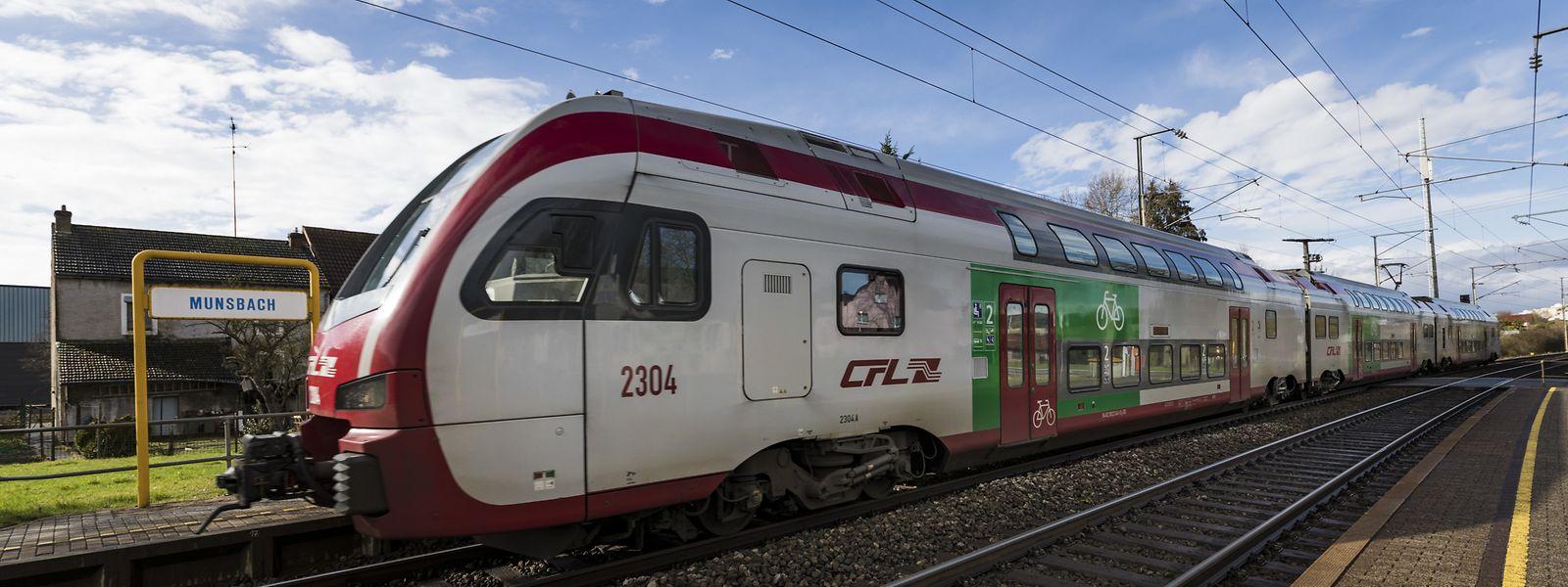 Ein Zug musste eine Notbremsung einlegen. Er kam beim Bahnhalt Münsbach zum Stehen.