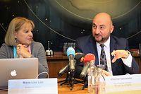 (de g. à dr.) Marie-Lise Lair, auteur de l'étude ; Étienne Schneider, Vice-Premier minister, ministre de la Santé