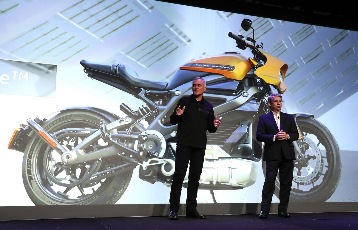 Harley-Davidson präsentierte das Motorrad am Montag auf der Technik-Messe CES in Las Vegas.