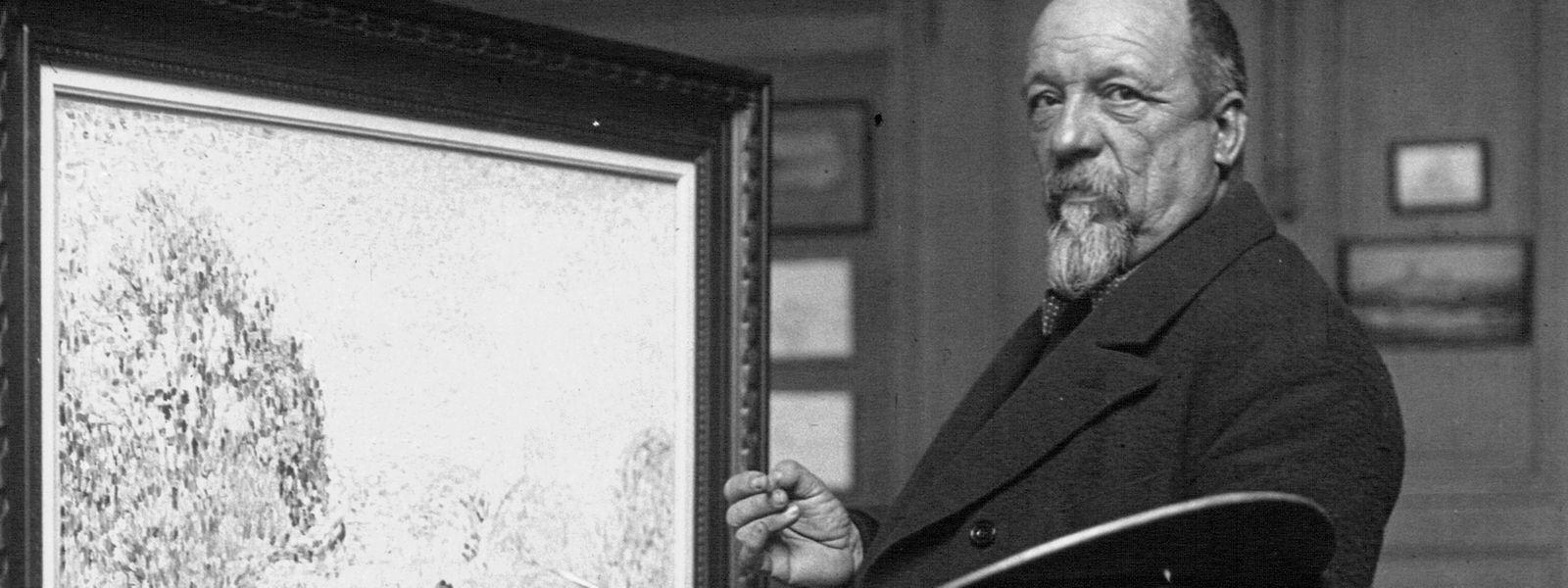 Paul Signac im Jahr 1923 bei der Arbeit.