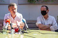 Politik, Bilan parlementaire Déi Lénk, David Wagner, Marc Baum, foto: Chris Karaba/Luxemburger Wort