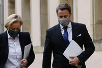 Politik, Xavier Bettel DP und Paulette Lenert LSAP, Regierung, Col Foto: Anouk Antony/Luxemburger Wort