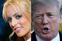 "(COMBO) This combination of pictures created on March 25, 2018 shows a file photo taken on January 12, 2007 of adult film actress Stormy Daniels at the 24th annual Adult Video News Awards Show at the Mandalay Bay Events Center in Las Vegas, Nevada, and file photo of US President Donald Trump as he departs the White House in Washington, DC on March 10, 2018.   Porn actress Stormy Daniels will on March 25, 2018 sit for a highly-anticipated interview that could shed new light on the affair she says she had with Donald Trump a decade before his election as president.Contrary to its usual practice, CBS has not released excerpts of the interview, which will air Sunday at 7:00 pm (2300 GMT) on the network's flagship ""60 Minutes"" program. Daniels told The Washington Post her work in adult entertainment had allowed her to develop a ""thick skin,"" but ""nothing could truly prepare someone for this.""  / AFP PHOTO / GETTY IMAGES NORTH AMERICA AND AFP PHOTO / Ethan Miller AND Olivier Douliery"