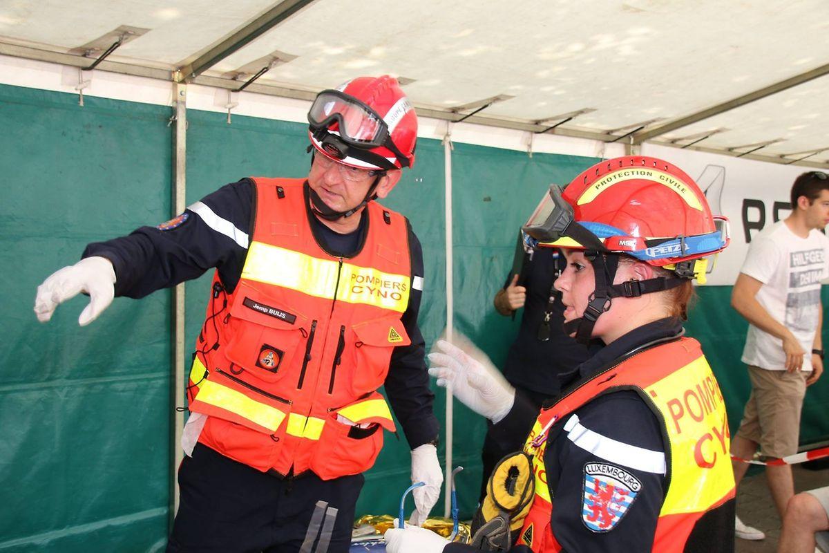 """Einige Rettungsmahnschaften aus Luxemburg nehmen an der """"World Rescue Challenge"""" teil."""