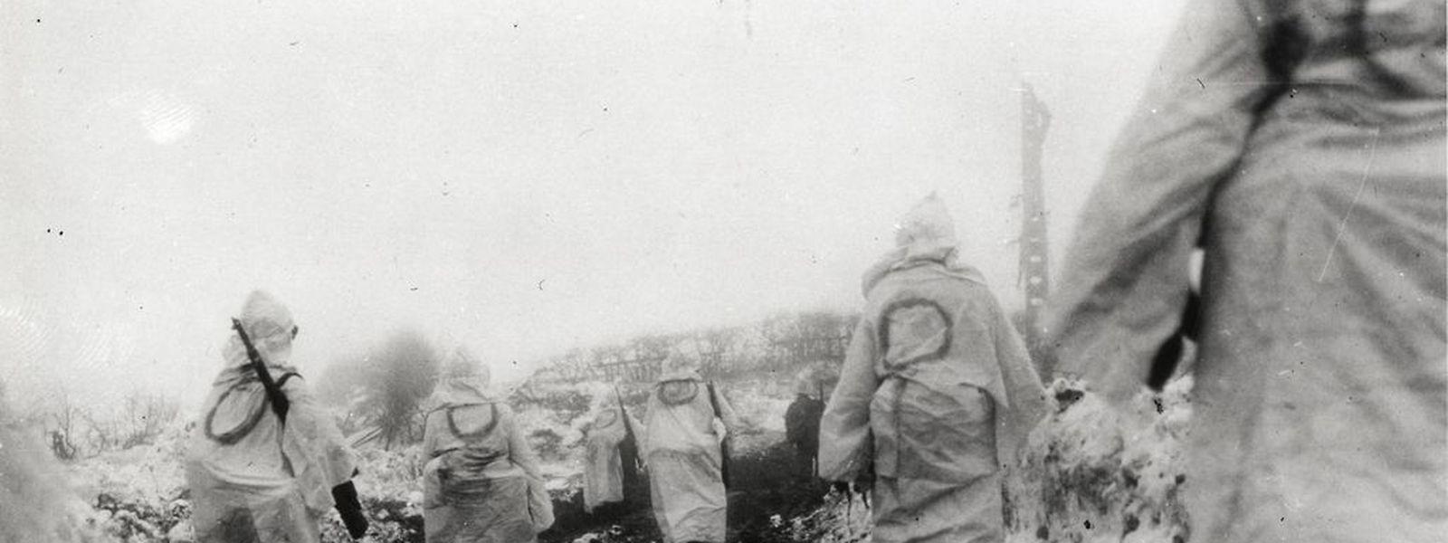 Schneetarnung der US-Soldaten.