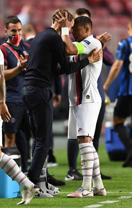 PSG-Trainer Thomas Tuchel vertraut Kapitän Thiago Silva.