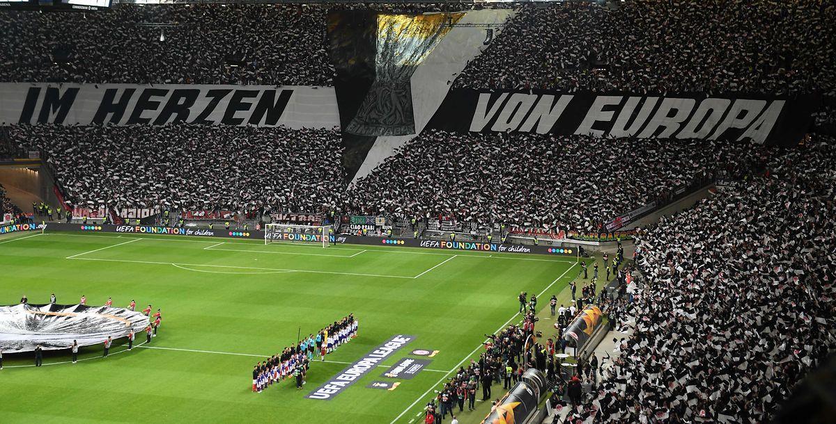 Die Eintracht-Fans waren heiß auf das Spiel.