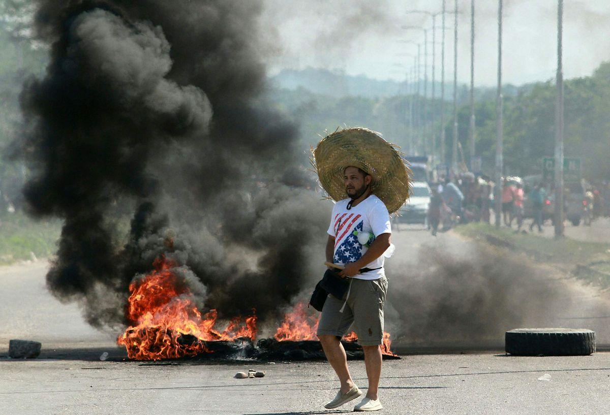Proteste der Opposition in Santa Cruz de la Sierra