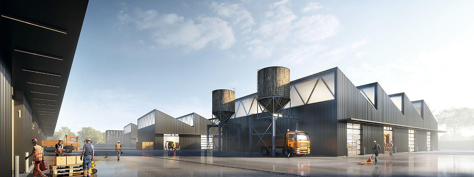 Das neue Zentrum für die technischen Dienste in Niederkorn
