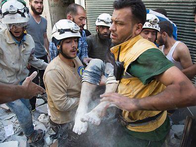 Die syrischen Weißhelme sind einer der vier Preisträger des Alternativen Nobelpreises 2016.