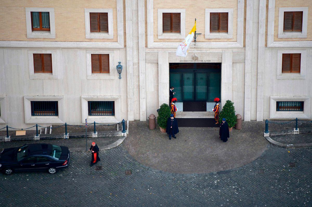 Die Räume des Pilgerheims Santa Marta, in dem der Papst wohnt, wurden desinfiziert.