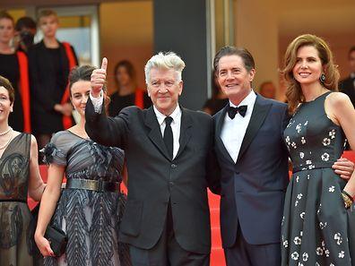 """Regisseur David Lynch und Schauspieler  Kyle MacLachlan kamen zum 70. Jubiläum (Bild) und mit den zwei ersten Folgen der neuen """"Twin Peaks""""-Serie im Gepäck."""